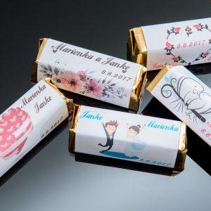 Svadobná čokoláda pre hostí - stredná