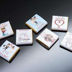 Svadobná čokoláda pre hostí - mini